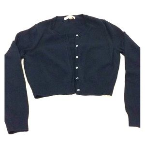 Brooks Brothers cropped navy sweater